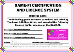 BFIH Game-Fi Certificate