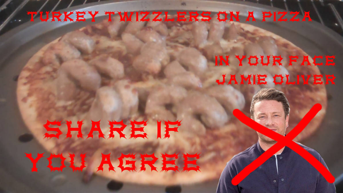 Turkey Twizzlers on a pizza
