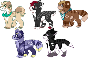 60 point canine adopts! -CLOSED- by H0wladopts