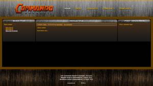CNC Commando Assault website design