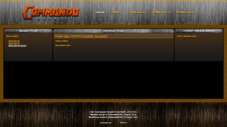 CNC Commando Assault website design by Diamond00744