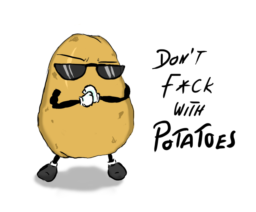 how to draw a cute potato