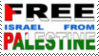 Stamp Free Israel No Palestine by Zionist-4-Ever