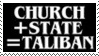 Stamp Church + State : Taliban by Zionist-4-Ever