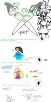 Issun's Okami art meme by Karrotcakes