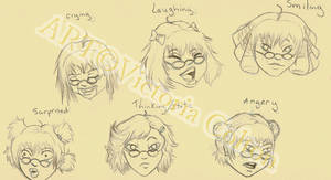 Expression practice by Crystori