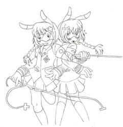 Plusel and Minu Sonichu WIP