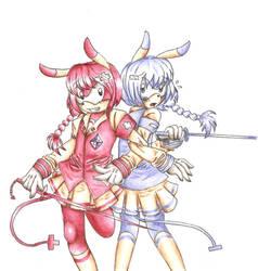 Plusel and Minu Sonichu