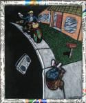 Black velvet paperboy