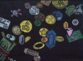 Video game coins and currency by Clockworkalien