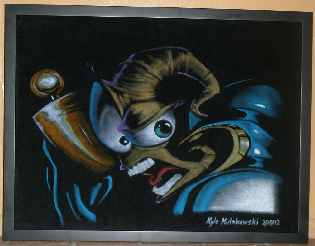 Earthworm Jim on black velvet by Clockworkalien