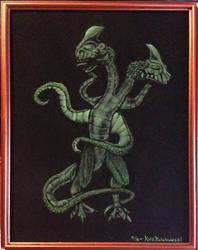 Stranger Things: Demogorgon on black velvet