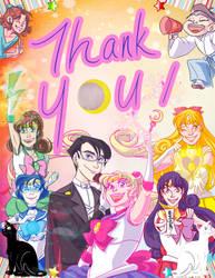 classic cast Sailor Moon thank you