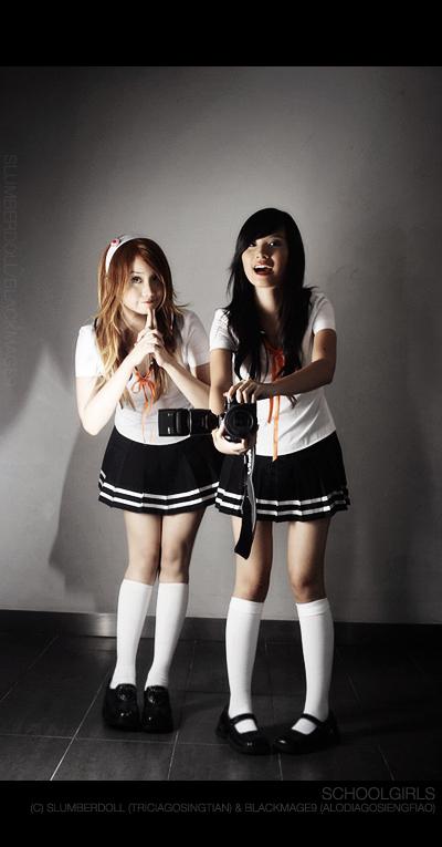 Alodia and Tricia: Schoolgirls by slumberdoll