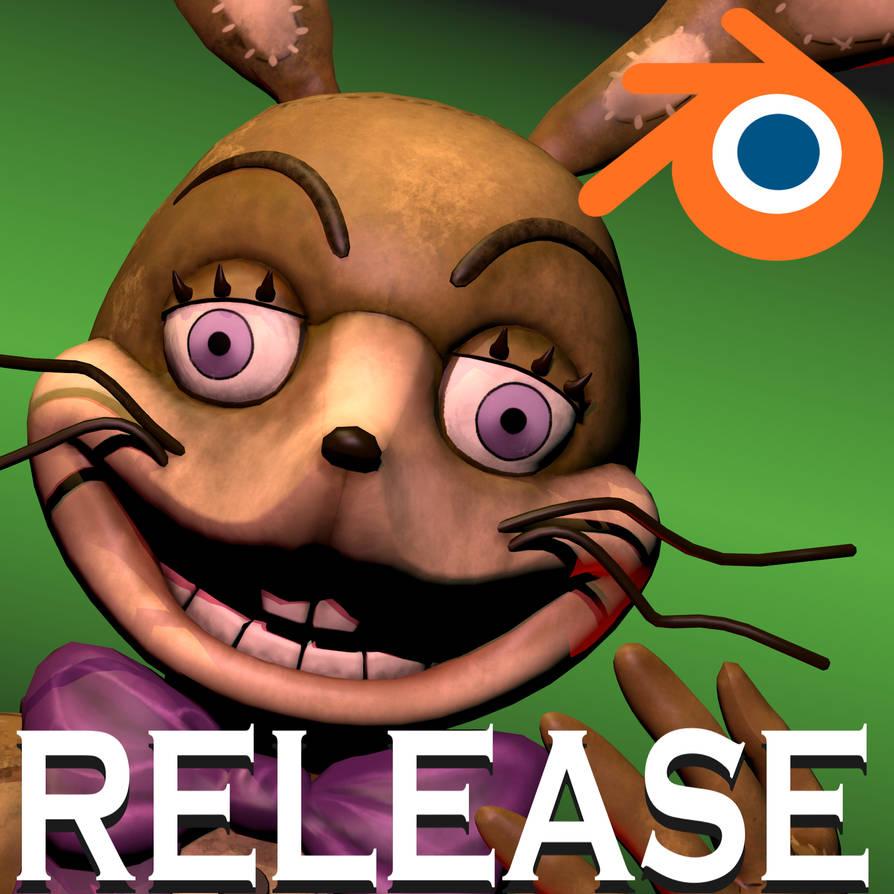 FNAF VR Help Wanted Glitchtrap (Blender Release) by RodaAnimation on