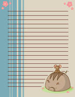 Scone Pig and Mouse Stationary by SeraphimProphets