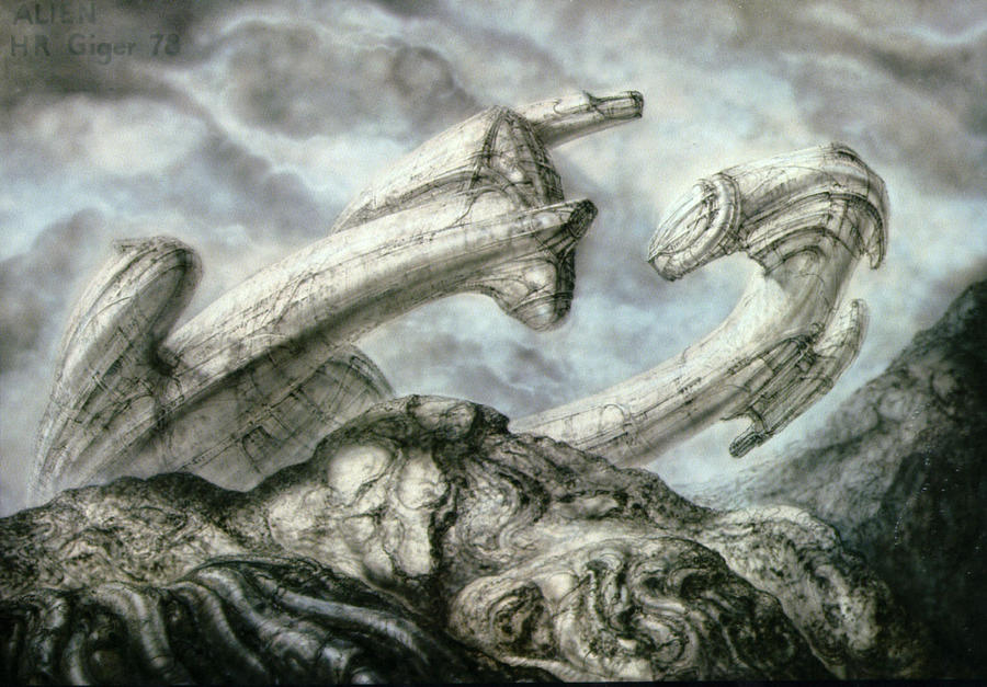 Giger Concept Art for Alien P3 in ImmaculateIncubation, by TheOldOne81