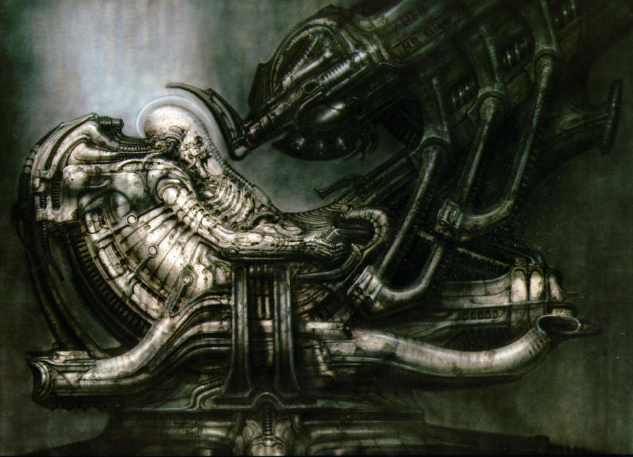 Giger Concept Art for Alien P5 in ImmaculateIncubation, by TheOldOne81