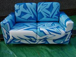 myspace graffiti sofa painted by brave one by Brave-one