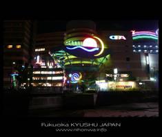 Fukuoka by night -5- by Lou-NihonWa