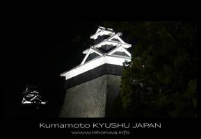 Kumamoto castle by night -2- by Lou-NihonWa