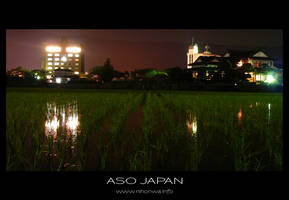 A rice field in the night -2- by Lou-NihonWa