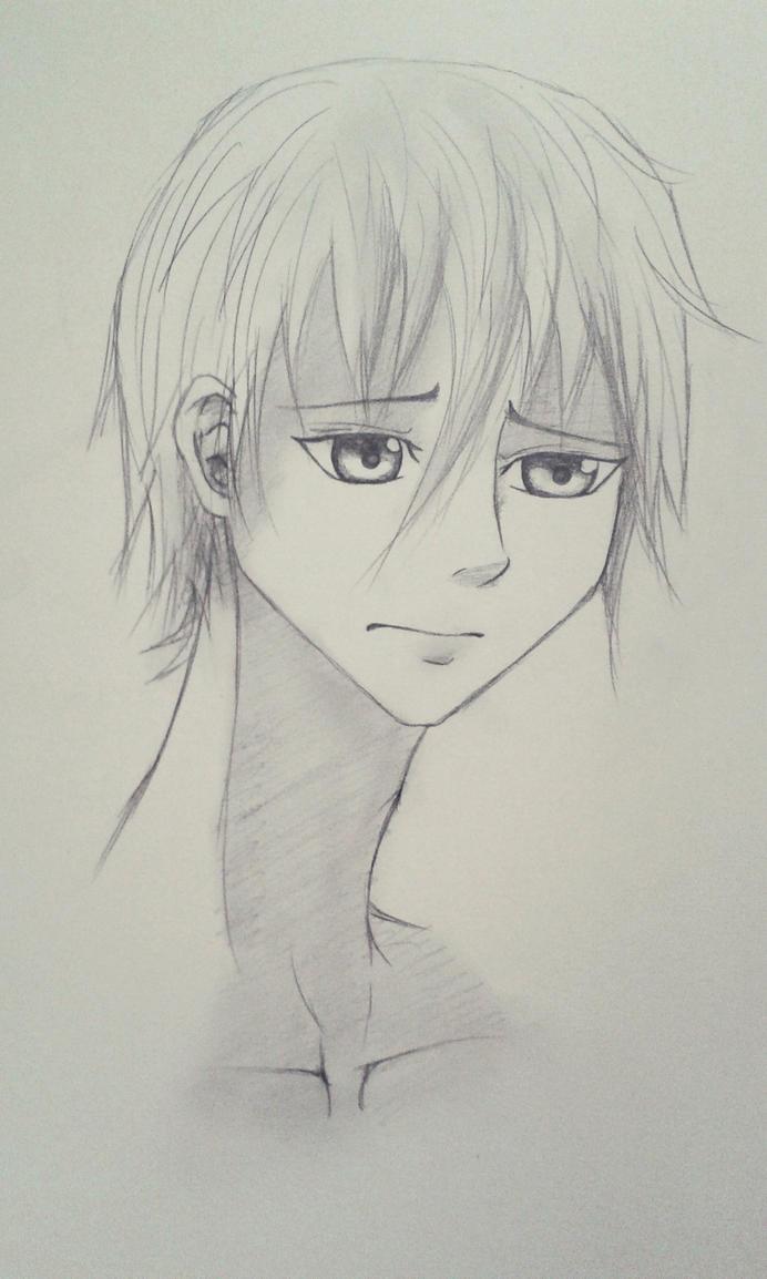 sad anime boy by FynnS