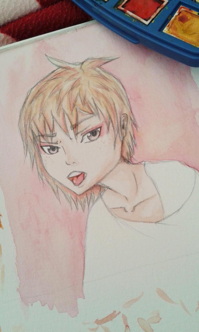 Anime boy, kakao karte by FynnS