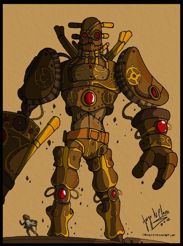Steampunk Colossus by FalloutCat