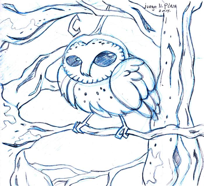 Barn Owl sketch by FalloutCat