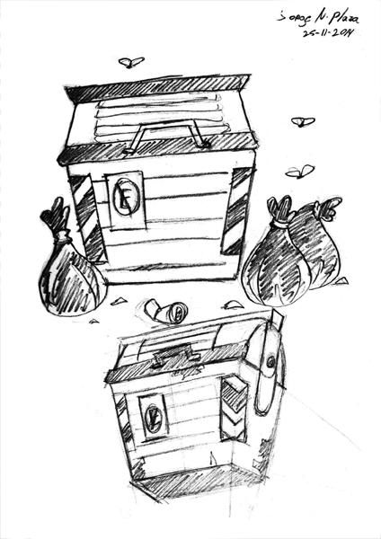 Basureros sketches by FalloutCat