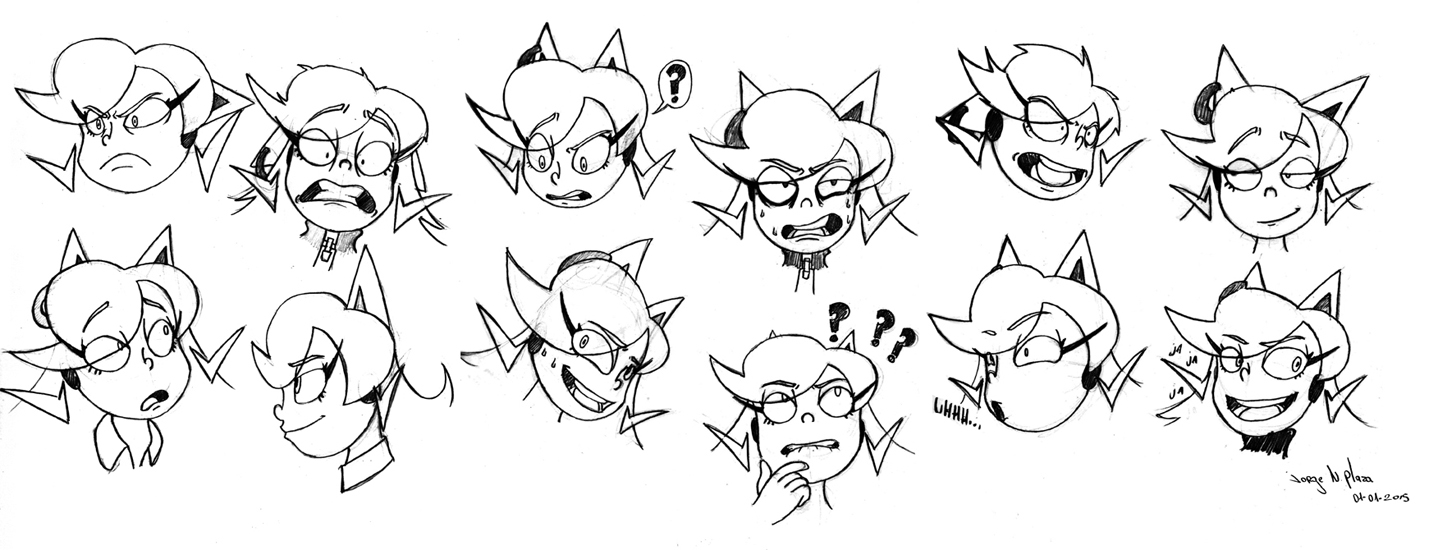 Jessica expression sheet by FalloutCat