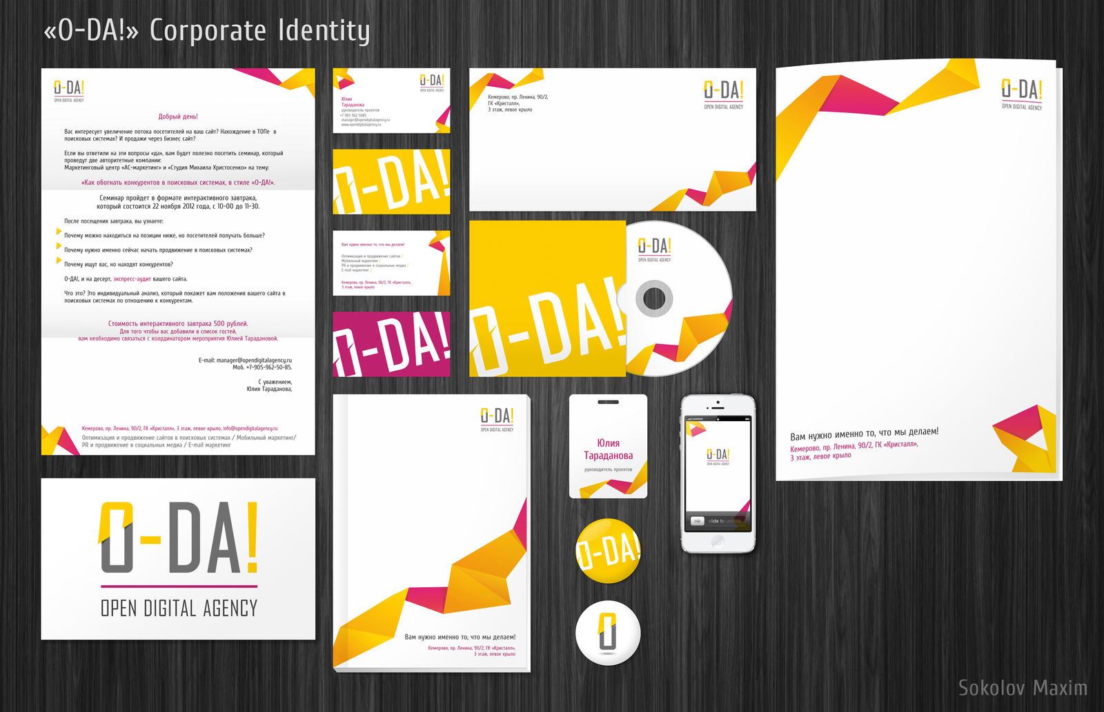 O-DA! - Corporate Identity by Letyi