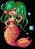 pixel mermaid by HeatheryAmethyst