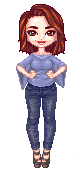 H|F as a pixel doll by HeatheryAmethyst