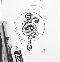 Snake eye by HeatheryAmethyst