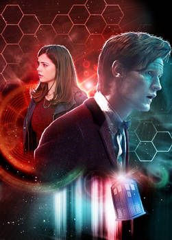 The Eleventh Doctor and Clara Oswald