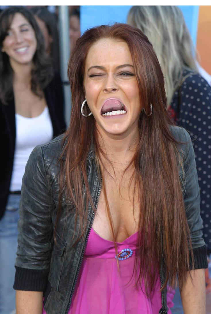 Lindsey Lohan Reverse Mouth by JetsterDajet