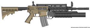 MW2 M4A1 Grenadier