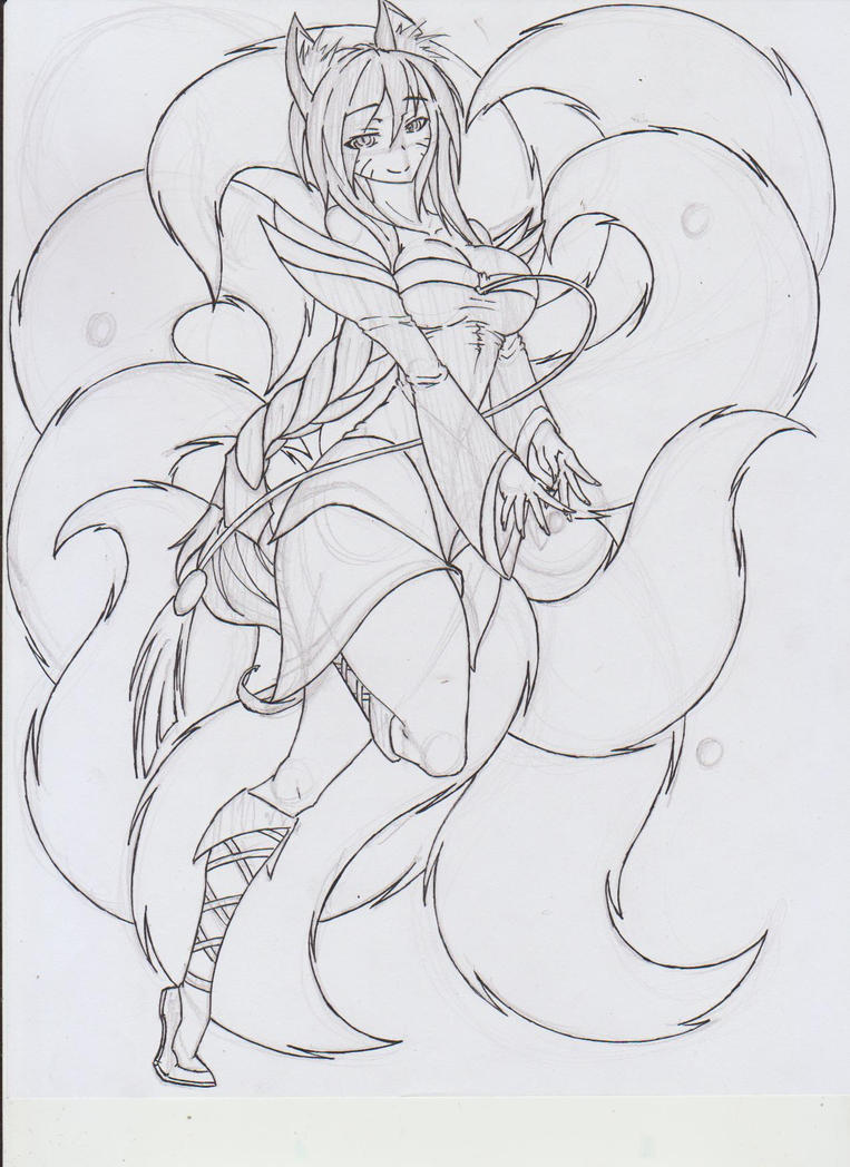 IMG8 Ahri Sketch by Graydrone