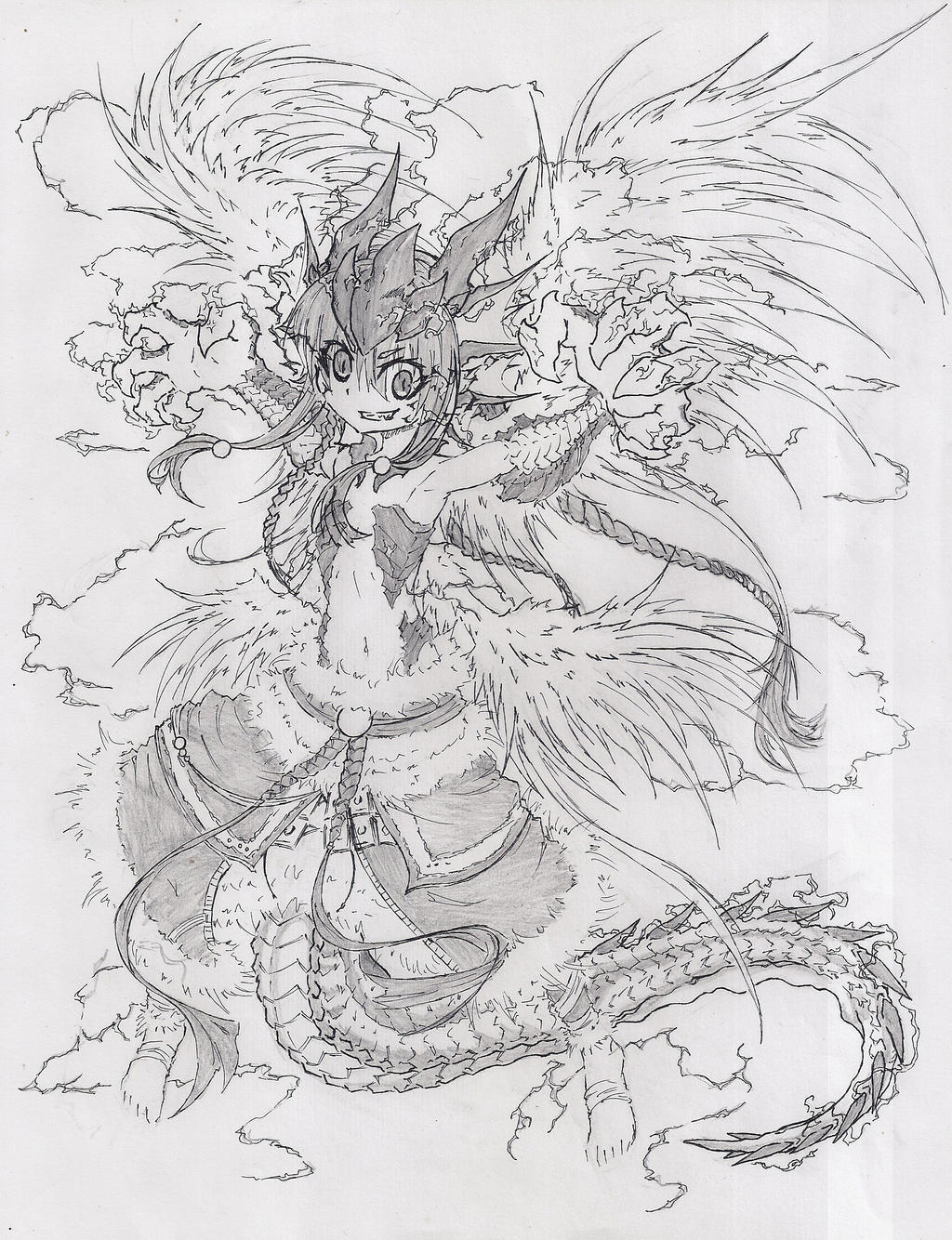 Dragonlord Kolaghan sketch by Graydrone
