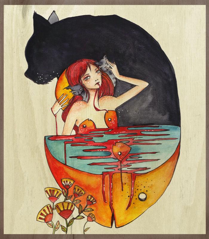 Cat vs Fish by yara001