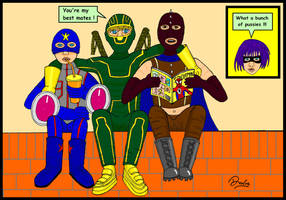Kick-Ass and his buddies by Davoe