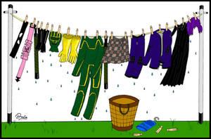 Superhero Laundry by Davoe