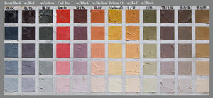 Limited Palette Color chart