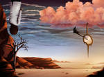 Desert Sky - Digital Painting by AaronRutten