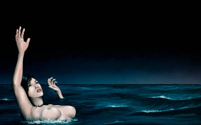 Drowning In Sleep - Digital Painting by AaronRutten