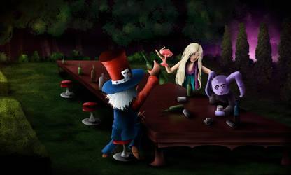 Tea Party - Digital Painting by AaronRutten