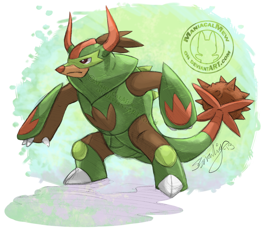 Nother Chespin Evo by ManiacalMew on DeviantArt