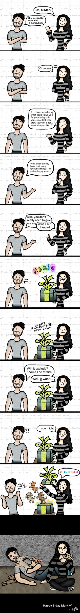 Happy B-day Mark ^^  I 2018 comics I by SpookyMuffin4545